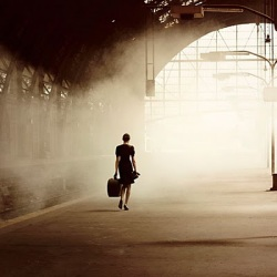 Woman Leaving
